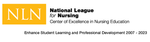National League for Nursing Logo. Center of Excellence in Nursing Education. Enhance Student Learning and Professional Development 2007 through 2023.